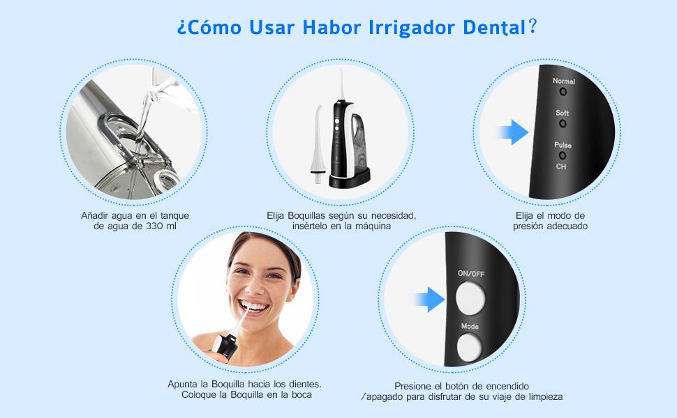 irrigador dental bucal para su familia