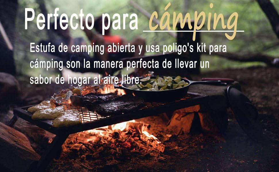 parrilla de camping