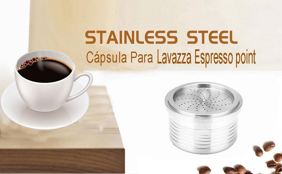 KOBWA Cápsula de café Recargable, Taza de Filtro de café ...