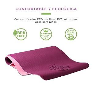 yoga, mat, esterilla, deporte, fitness, health, salud, ecologica