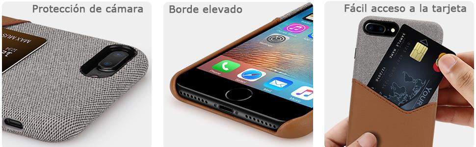 Tasikar Funda iPhone 7 Plus/Funda iPhone 8 Plus Carcasa Cartera de ...