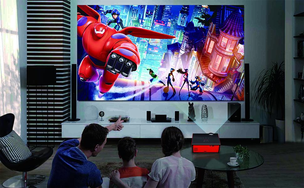 Proyector Paick Vídeo Proyector 2200 Lúmenes Multimedia LED ...