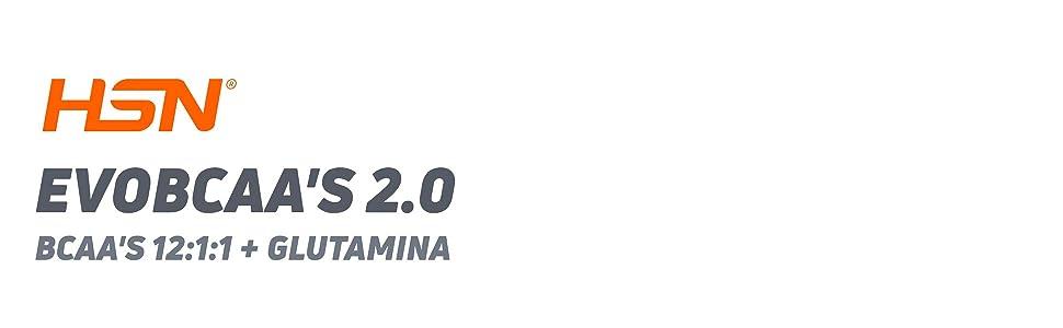 BCAA con Glutamina de HSN Evobcaas 2.0 | Aminoácidos Ramificados Ratio 12:1:1 (L-Leucina + L-Valina + L-Isoleucina) | Recuperación y Ganar Masa ...