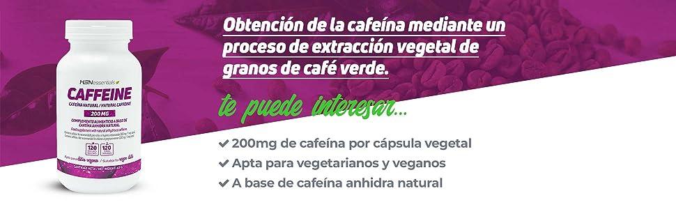 Cafeína Natural 120 cápsulas HSN Store