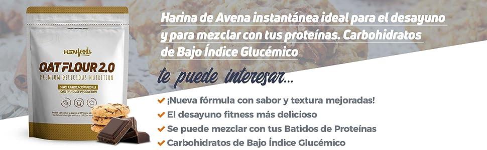 Harina de Avena de Sabor de HSN Foods - Sin soja, Vegana ...