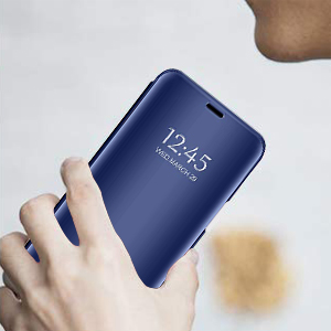 Funda para Samsung Galaxy A8 2018 Smart Flip Funda Time Clear View ...