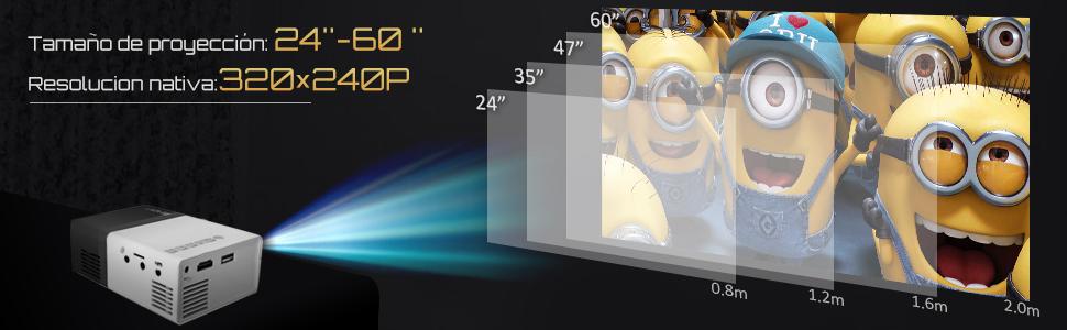 Mini Proyector Portátil Móvil- Artlii Mobile Projector LED,Batería ...