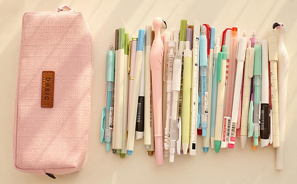 iSuperb Estuche Escolar Estudiantes Bolsa para Lapices Adolescentes Papelería Bolsa Caso Plumier Pencil Case para Niñas Colegio Color Sólido 19,8 X 8 X 5cm: Amazon.es: Oficina y papelería