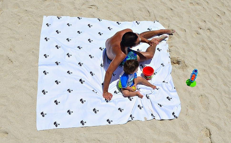 Bdsign -Toalla de Playa de Microfibra, Familiar, Gigante y Ultra Absorbente. (White, 188cm x188cm): Amazon.es: Deportes y aire libre
