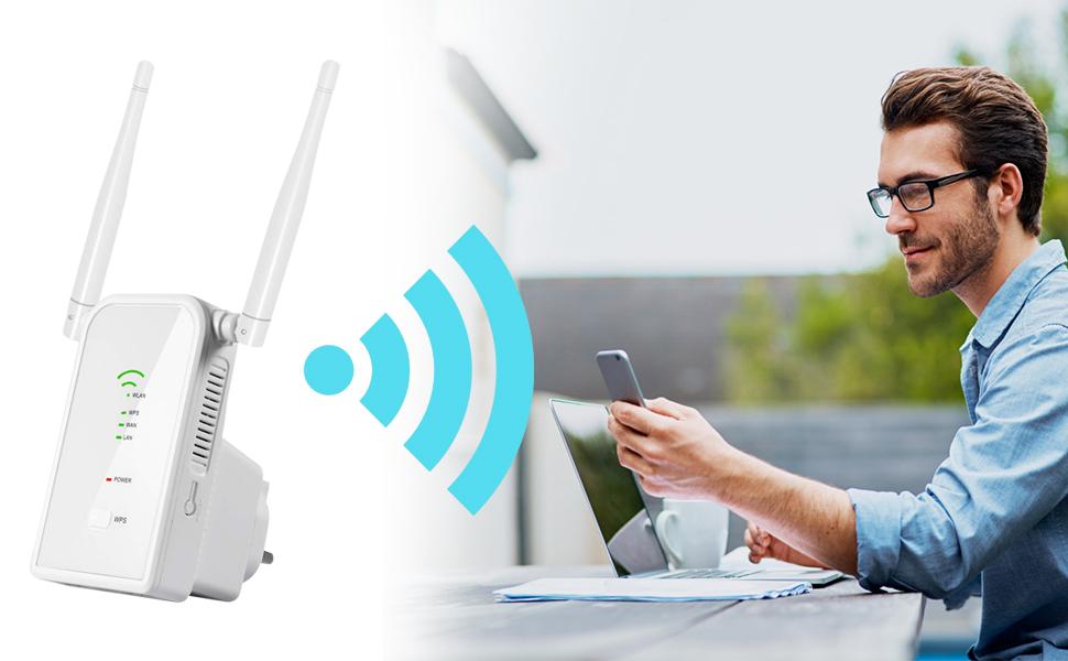 Aigital WiFi Repetidor Router, 300Mbps Enrutador