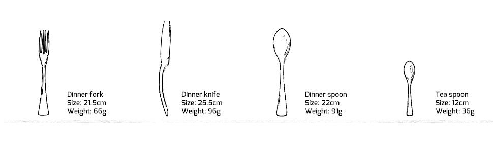 LEKOCH de 4 Piece de acero inoxidable Cuberterías incluyendo incluyen tenedores, cubiertos de cuchillos, cucharas (Negro)