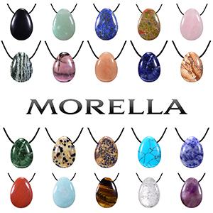 Collar de piedras preciosas para damas Morella Collar de chakra de amatista y yoga Reiki Stone Heal