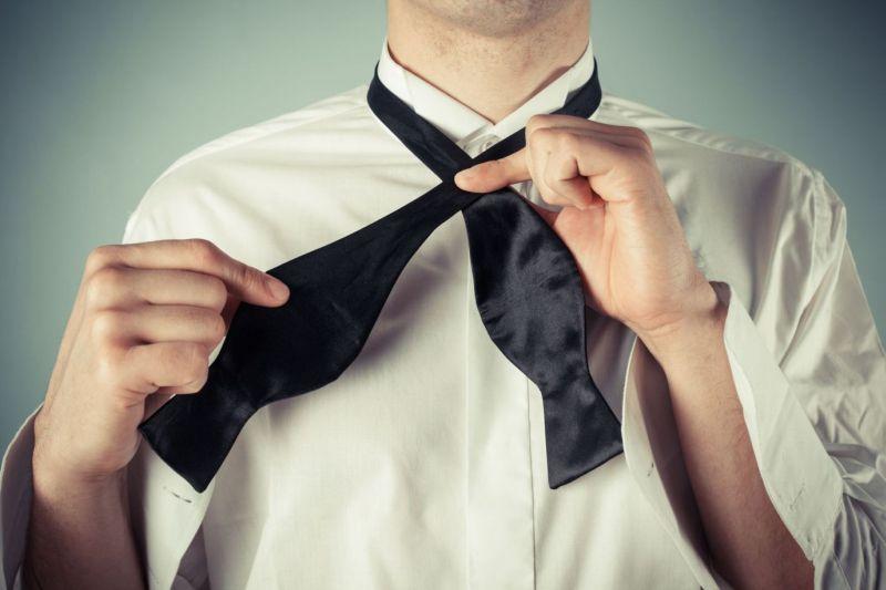 DonDon Pajarita para hombre para combinar con traje y esmoquin ...