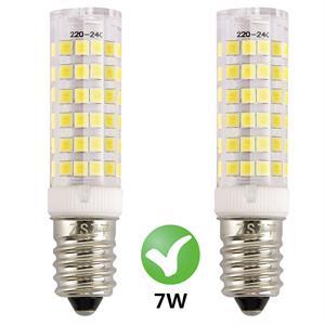 Bombilla campana extractora, ZSZT E14 bombilla LED 7W rosca Edison pequeña (SES) Equivalente 50W, Blanco Frío 6000K, pequeña y potente, 2 unidades: Amazon.es: Iluminación