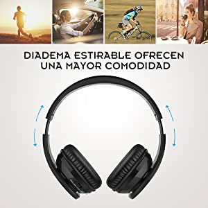 Auriculares Bluetooth, Crabot Wireless Over Ear Hi-Fi Auriculares