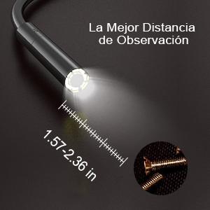 Pilas incluidas] ERAY cámara de inspección flexible de boroscopio ...