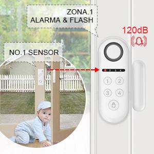 ERAY D3 Alarmas para Casa Inalámbrica Antirrobo – 1 x Alarma de Puerta + 2 x Sensores de Puerta/Ventana + 1 x Mando a Distancia + Pilas Incluidas - ...