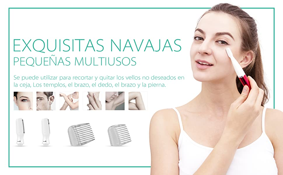 VOYOR Recortador Cejas Shaper Eyebrow Depiladora Afeitadora Mujer ...