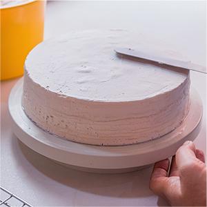 Cake Turntable Stand THETIS Soporte de Decoraci/ón de Pasteles Torta Giratoria Soporte de Placa 11 Inch 2pcs Esp/átulas de Formaci/ón de Hielo con Lados y /Ángulos y 3pcs Niveladores de Torta