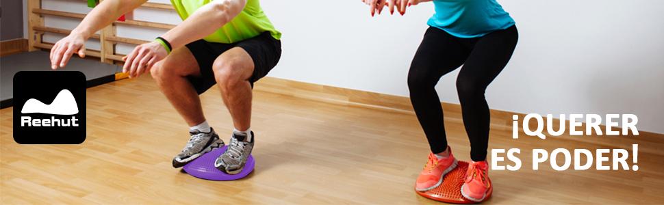 REEHUT Cojín de Equilibrio, Disco de Equilibrio para Fitness(Diámetro 33cm)