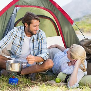 REEHUT Hornillos de Acampada Hornillo de Camping Portátil Ligero Horno con Encendido Piezoeléctrico Válvula Ajustable Material de Acero Inoxidable ...