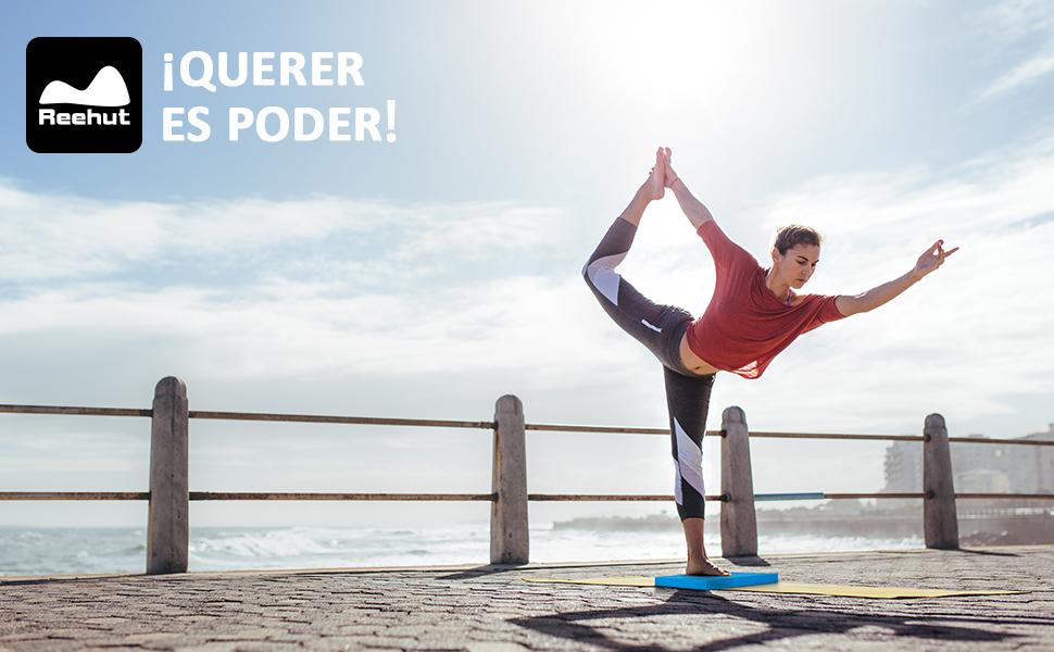 REEHUT Almohadilla de Espuma, Tabla de Equilibrio TPE, Plataforma de Equilibrio para Fitness, Yoga, Pilates, Entrenamiento y Tratamiento de Lesiones