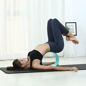 REEHUT Rueda de Yoga para la Dharma 32cm×13cm, Mejorar la Flexibilidad y Resistencia y Aliviar el Dolor y Estrés en su Espalda y Hombros de -Incluye ...