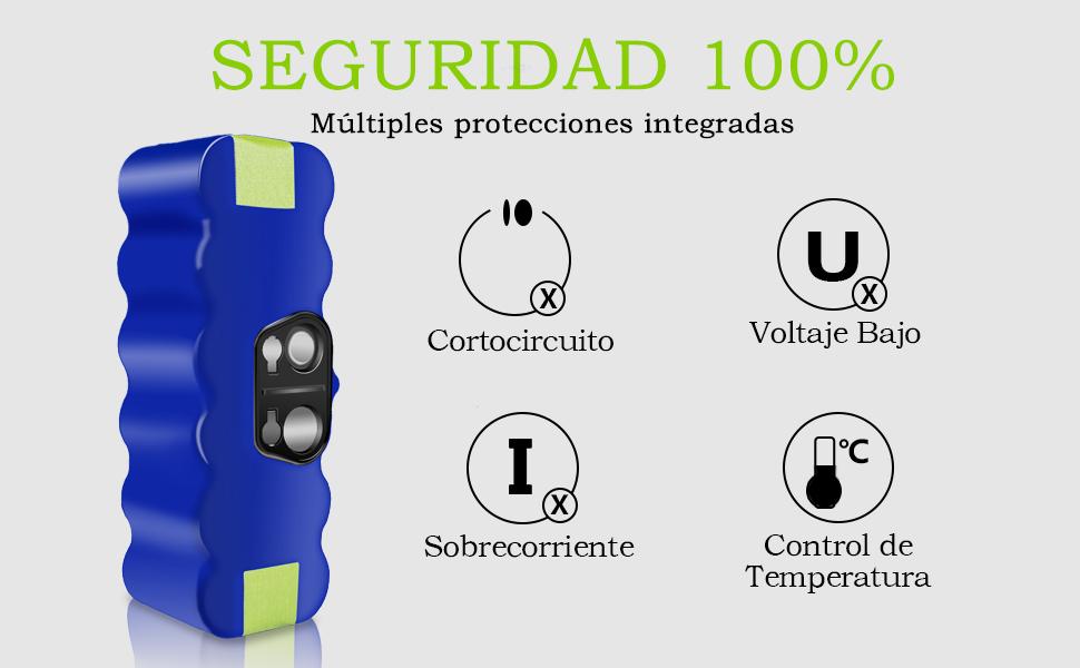 morpilot iRobot Roomba Batería 14.4V 4050mAh Extendida Vida de 1000 Ciclos para iRobot Roomba Serie 500 600 700 800 900 con Accesorios para Serie 500 ...