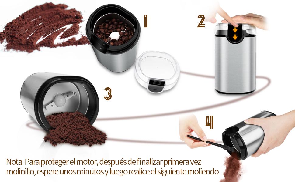 Molinillo de Café Eléctrico, morpilot Molinillos de Semillas ...