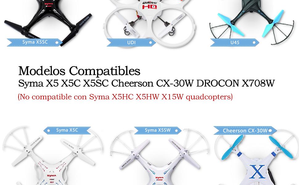 Keenstone Batería de Reemplazo para Syma X5C, 6PCS 3.7V 720mAh 20C + Cargador con 6 Puertos Compatible con Syma X5C X5C-1 X5SC X5SC-1 X5SW, Cheerson CX-30W UDI U45 DROCON X708W RC Drone