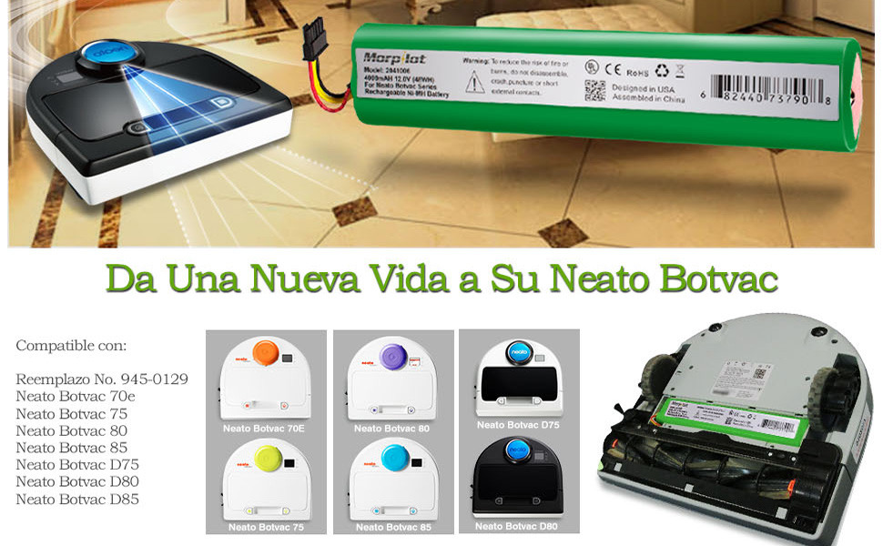Morpilot Batería de Reemplazo para Neato Botvac Series