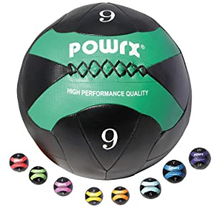 POWRX - Wall Ball Balón medicinal 2 kg, 3 kg, 4 kg, 5 kg, 6 kg, 7 ...