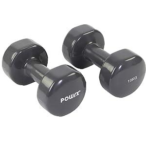 POWRX - Mancuernas Vinilo 20 kg Set (2 x 10 kg) + PDF Workout ...