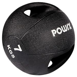 POWRX - Balón Medicinal con Asas 7 kg + PDF Workout (Negro ...