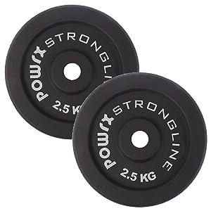 Pesas de disco en set de 2 o 4, pesas de hierro fundido de 5 - 40 ...
