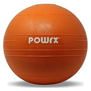 POWRX Slam Ball Balón Medicinal 3-20 kg - Ideal para Ejercicios de »Functional Fitness«, fortalecimiento y tonificación Muscular - Contenido de Arena ...