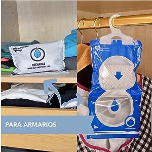 2 Bolsas deshumidificadore Reutilizable, eficaz, purificador de ...