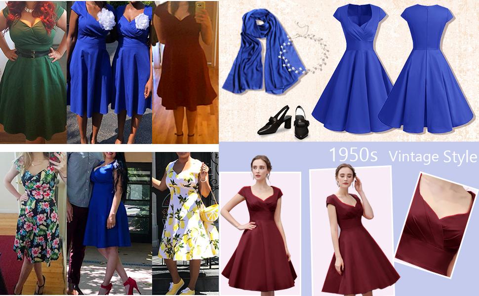 Vestidos de fiesta cortos vintage