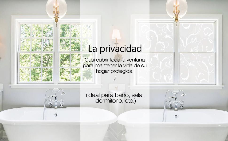 rabbitgoo Vinilo Pegatina de Ventanas Adhesiva Pegatina Privacidad ...