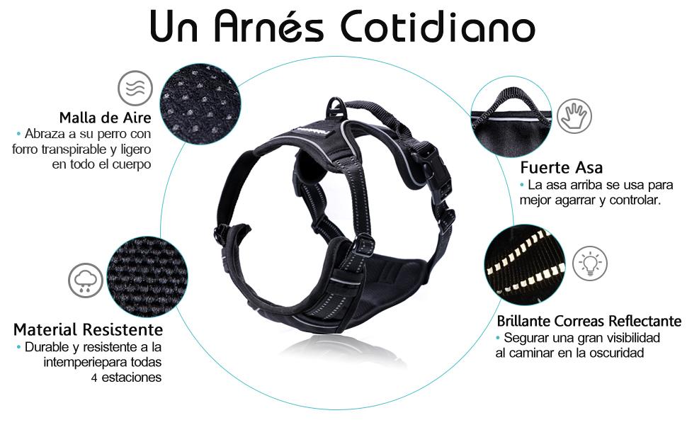 Rabbitgoo Arnes Antitirones Perro Midano Malla Confortable ...
