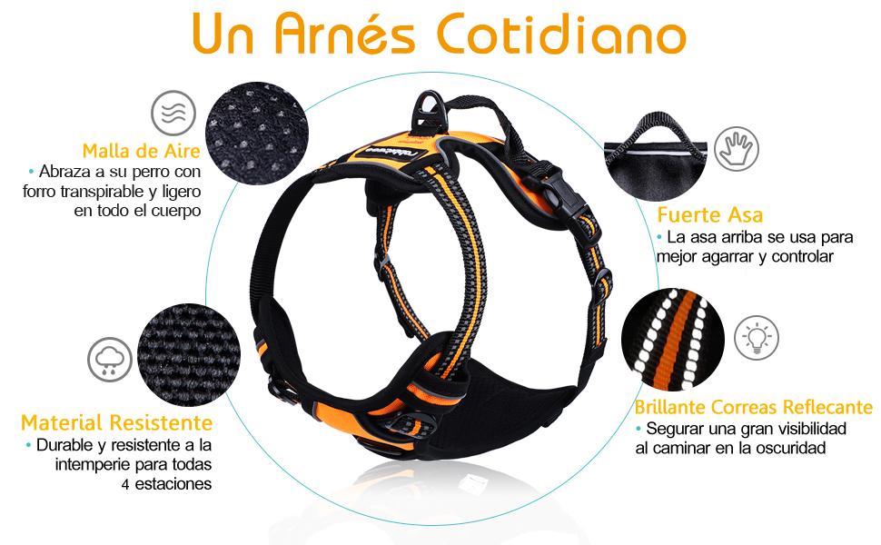 rabbitgoo Arnes Antitirones Perro Ajustable con Lineas ...