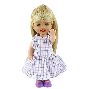 ZITA ELEMENT Ropa de Muñeca Pequeña Hecha a Mano 6 Piezas Moda Mini Vestido Encantador Vestido Traje para La Hermana Pequeña de Barbie Kelly Muñeca - ...
