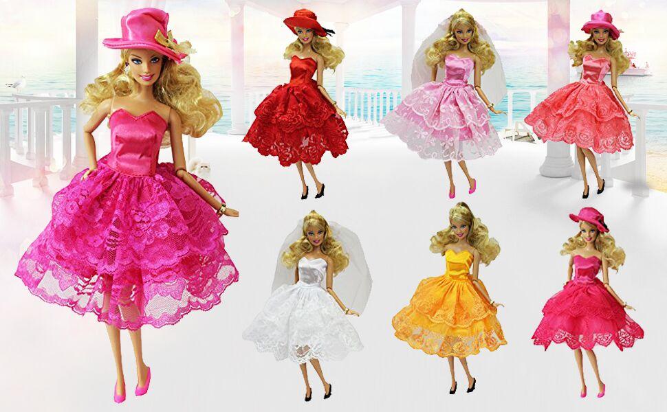 ZITA ELEMENT Vestidos de novia Vestido de cóctel para muñecas Barbie Princess Fiesta Moda