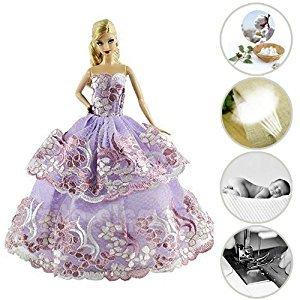 El vestido de gala asegurará la artesanía a mano. Con estos vestidos, las niñas pueden idear con entusiasmo una aventura de cuento de hadas como princesa.