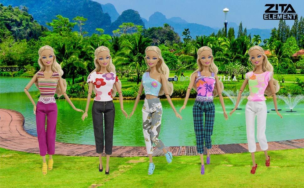 Sobre todo, su hija realmente le gusta, que es lo principal. Volumen de suministro: 5 set para muñecas Barbie (Los accesorios para Barbie, el estilo de la ...