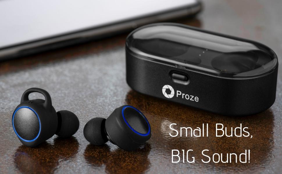 Auriculares Inalámbricos In Ear Proze TWS-02 con Micrófono Asistencia por Voz Cargador Portátil