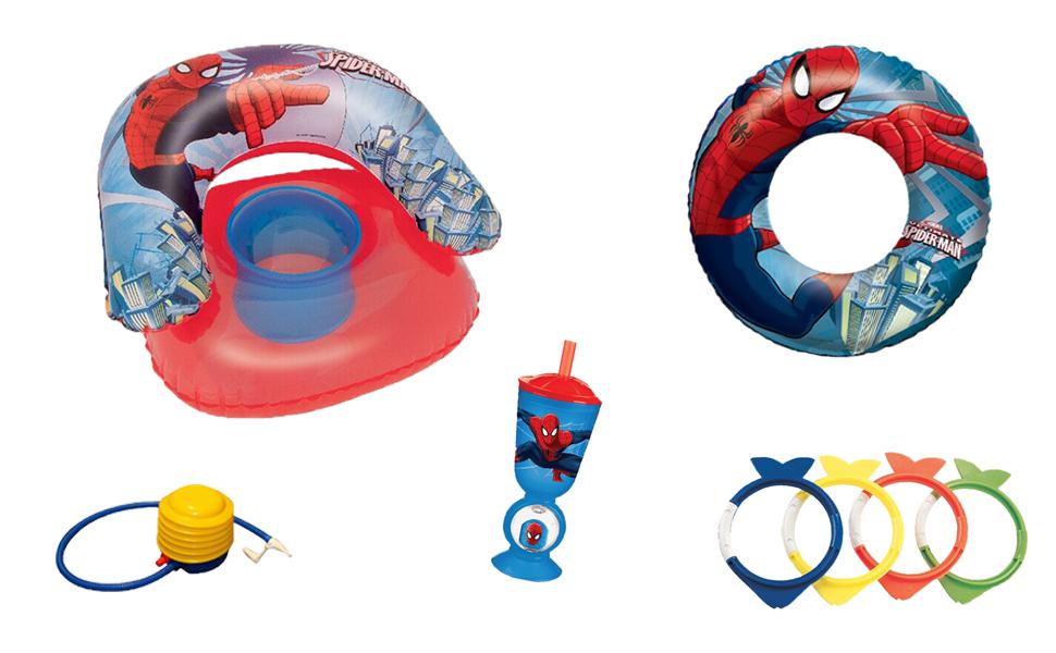 Ousdy - Pack Verano Spiderman / Sillón Hinchable + Flotador ...