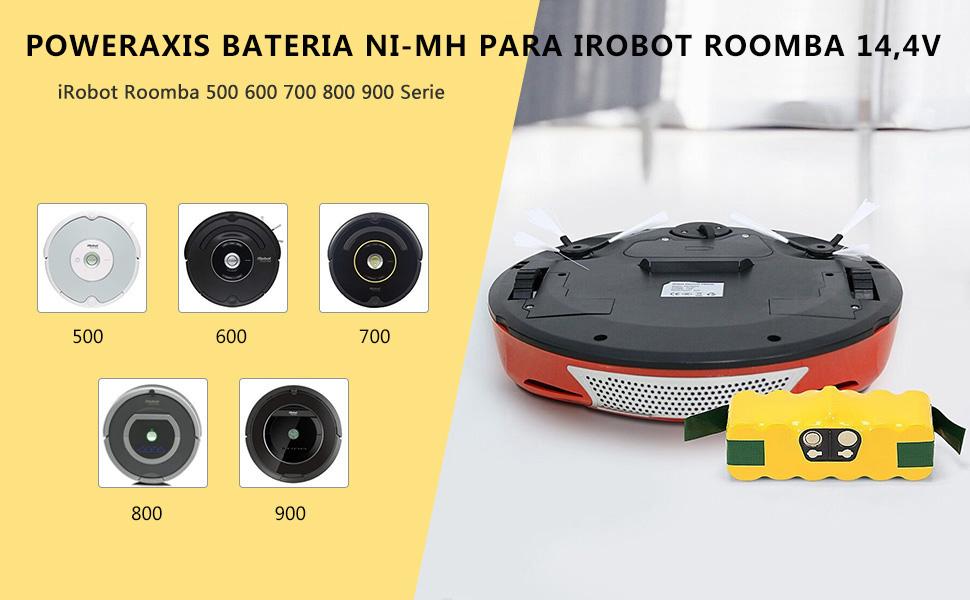 POWERAXIS 14.4V 3300mAh Ni-MH Aspiradora Batería para iRobot ...