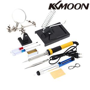 Viene con destornillador, soporte de hierro, soldadura, colofonia, lechón de soldadura y pinzas.