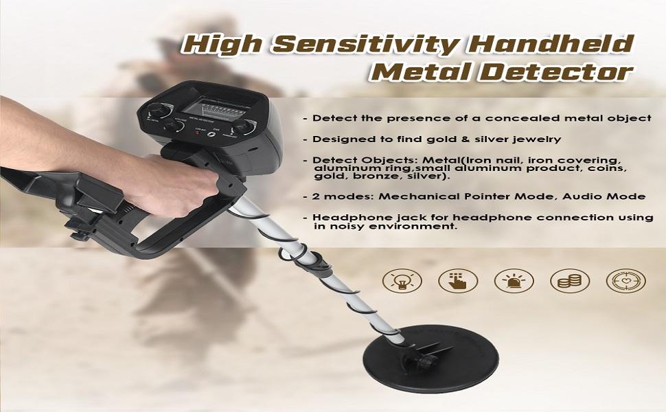 KKmoon Detector de metales Subterráneo Alta sensibilidad Búsqueda ...